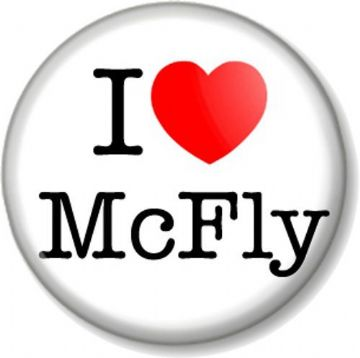 I Love / Heart McFly Pin Button Badge Boy Band Group Pop Rock Music
